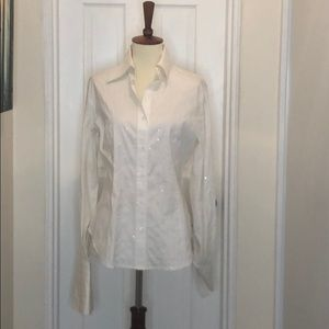 Lafayette 148 White Sequent button down